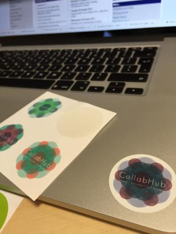 Come and collect a few CollabHub stickers - designed by Pip Williamson and Jonathan Penney